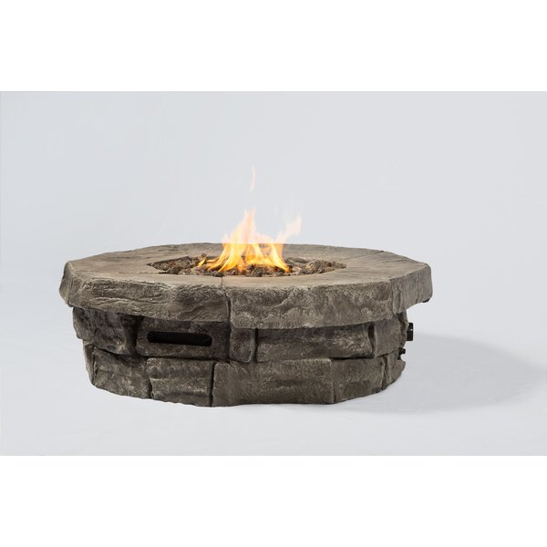 Aurora Concrete Propane Fire Pit Table by Living Source International