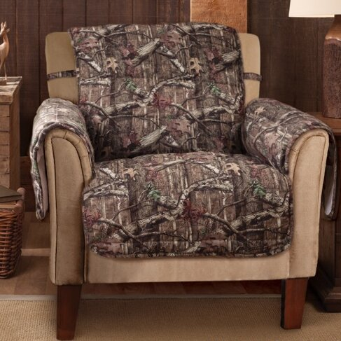 Breakup Infinity Box Cushion Armchair Slipcover by Mossy Oak