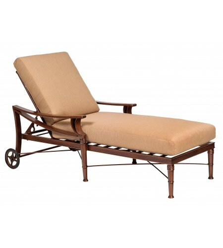 Arkadia Reclining Chaise Lounge with Cushion by Woodard
