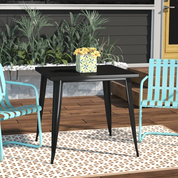 Caleigh Metal Square Dining Table by Williston Forge