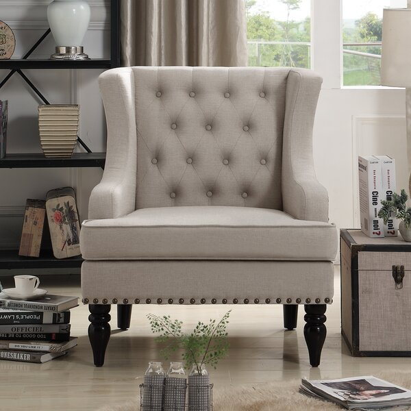 Paule Wingback Chair By Charlton Home by Charlton Home Sale