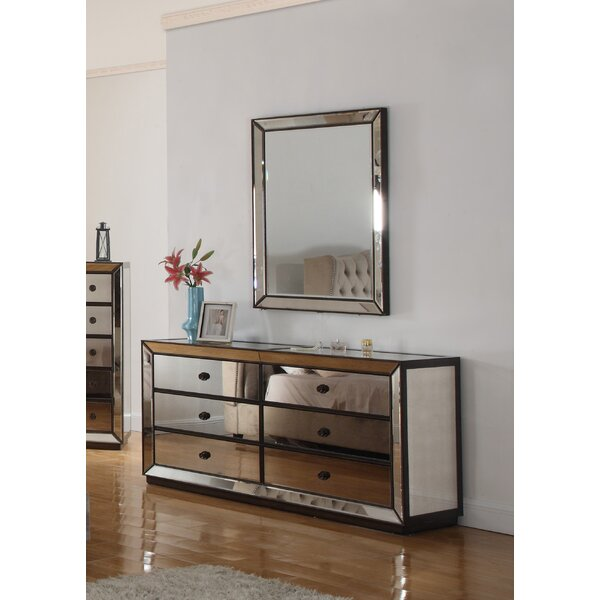 Richey 6 Drawer Double Dresser with Mirror by Rosdorf Park