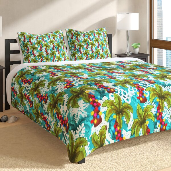 Tropical Christmas Duvet Cover Set by East Urban H