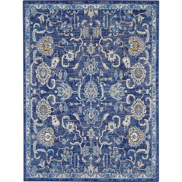 Chattahoochee Bohemian Navy Blue Area Rug by Bungalow Rose