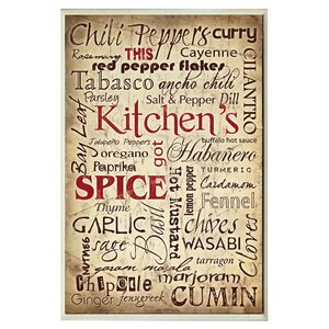 'Kitchen And Spice' Textual Art by August Grove