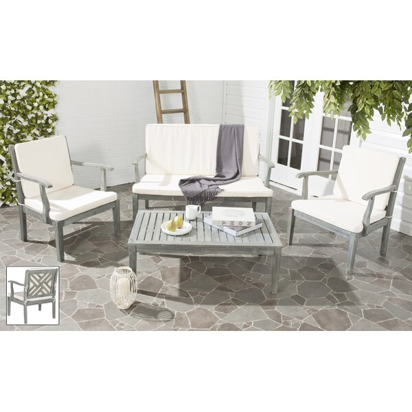 Cogan 4 Piece Sofa Seating Group with Cushions by George Oliver