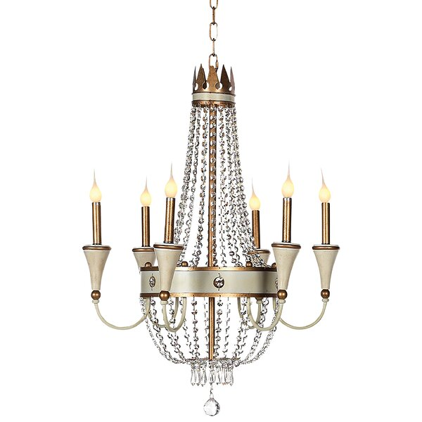 Josephine 6-Light Candle Style Empire Chandelier by ellahome ellahome