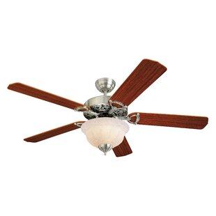 Affordable Price 52 Beaudet 5 Blade Ceiling Fan By Fleur De Lis Living
