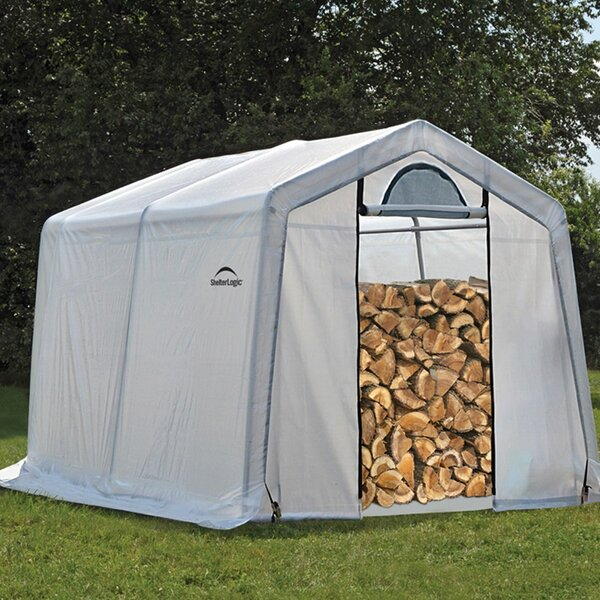 Firewood Seasoning 10 Ft. x 10 Ft. Plastic Log Store by ShelterLogic
