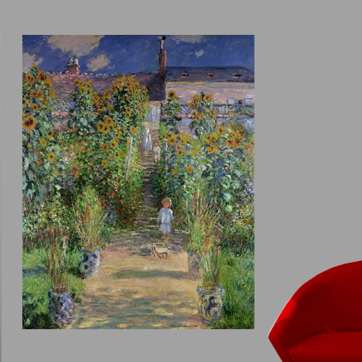 Merveilleux Monet The Artistu0027s Garden At Vetheuil (1880) Wall Mural