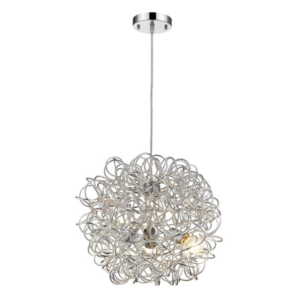 Harning 3 - Light Unique / Statement Globe Chandelier By Orren Ellis