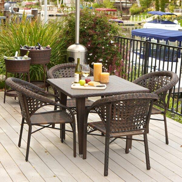 Alsup 5 Piece Outdoor Dining Set by Brayden Studio