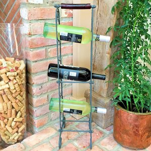 French 6 Bottle Floor Wine Bottle Rack by Whole House Worlds