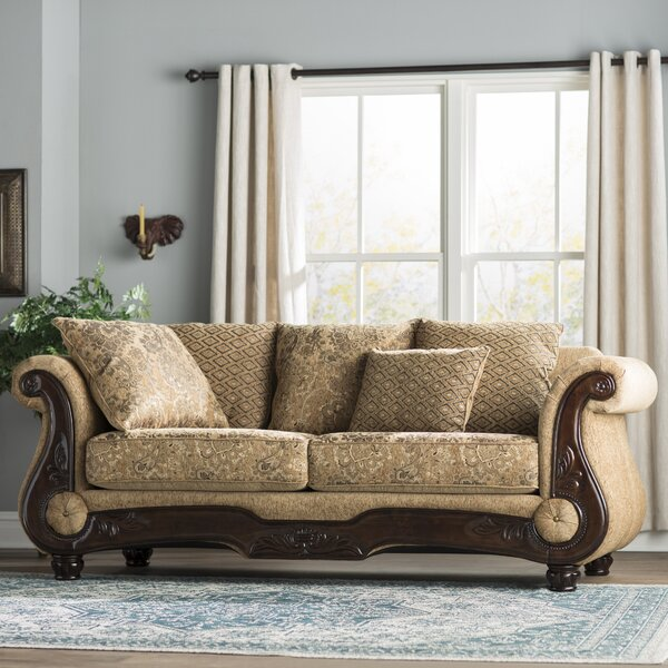 New Look Style Destanee Traditional Chesterfield Sofa by World Menagerie by World Menagerie