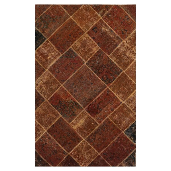 One-of-a-Kind Kirkhill Hand-Knotted Wool Rust Area Rug by Bloomsbury Market