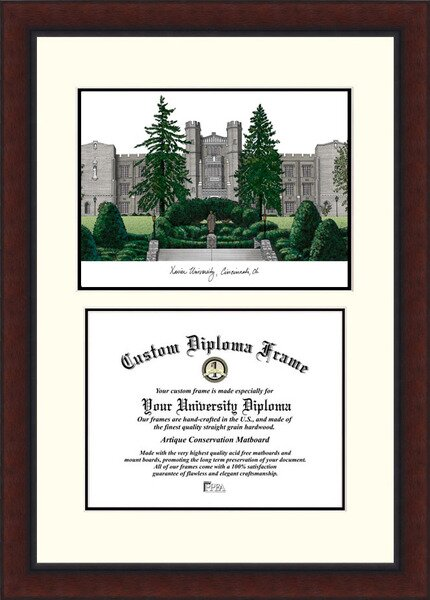NCAA Xavier University Legacy Scholar Diploma Picture Frame by Campus Images