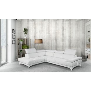 Privett Premium Leather Reversible Sectional