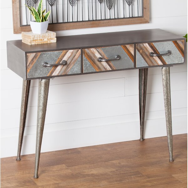 Clive Metal And Wood Hall Console Table By Gracie Oaks