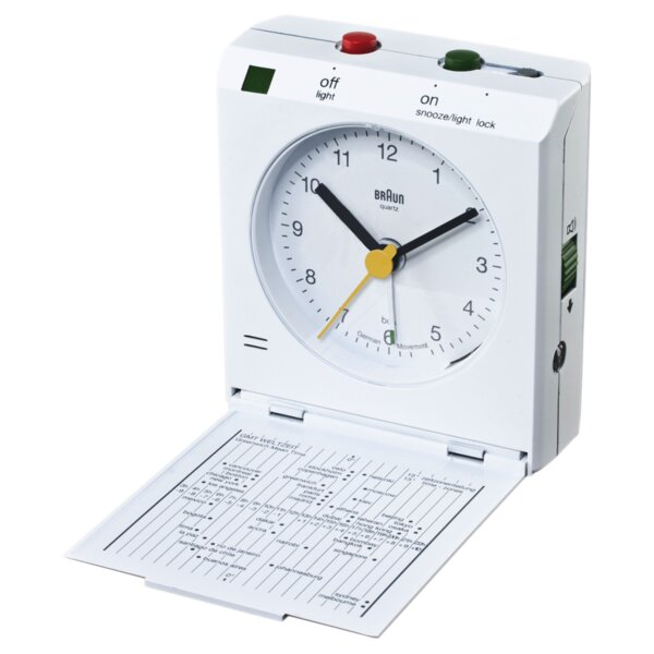 Flip Down Travel Alarm Tabletop Clock by Braun