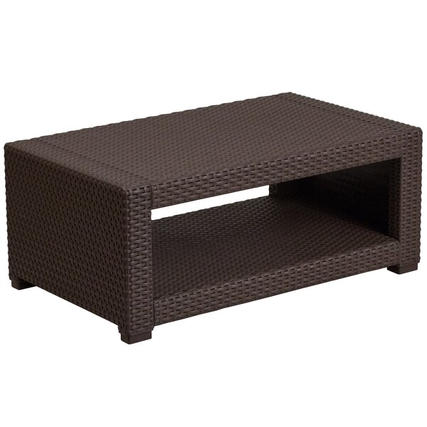 Clifford Faux Rattan Coffee Table by Breakwater Bay