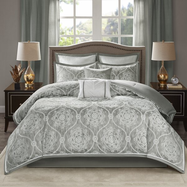 Millikan Jacquard 8 Piece Bed in a Bag Set by House of HamptonMillikan Jacquard 8 Piece Bed in a Bag Set by House of Hampton