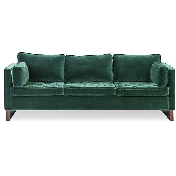 Hobert Velvet Sofa By Ivy Bronx