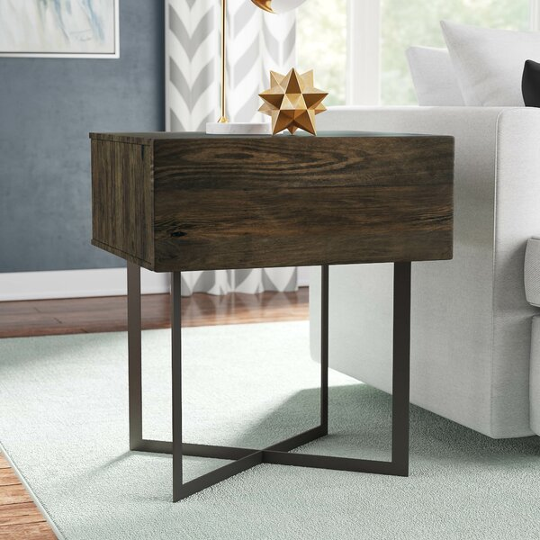 Strausbaugh End Table with Storage by Brayden Studio