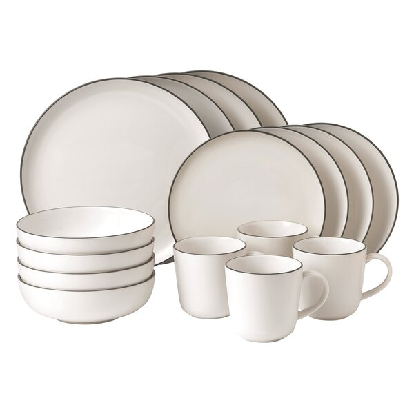 Bread Street 16 Piece Dinnerware Set, Service for 4 by Gordon Ramsay by Royal Doulton