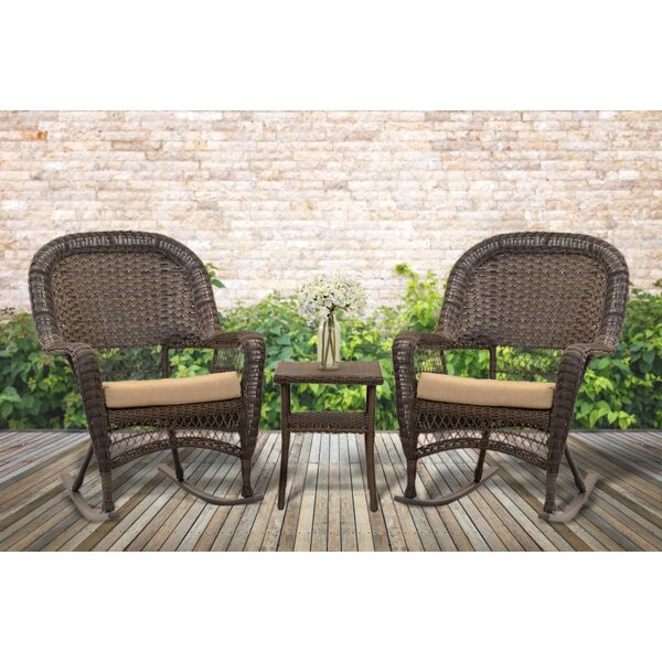 Eliza 2 Piece Rattan Seating Group with Cushions by Rosalind Wheeler