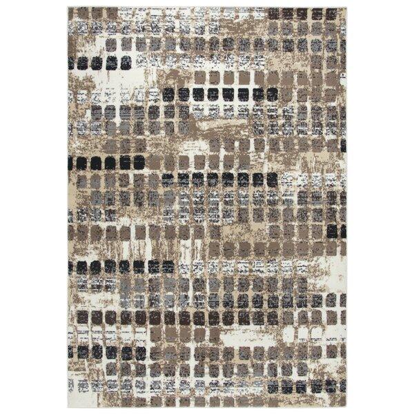Minyard Beige/Black Area Rug by Ebern Designs