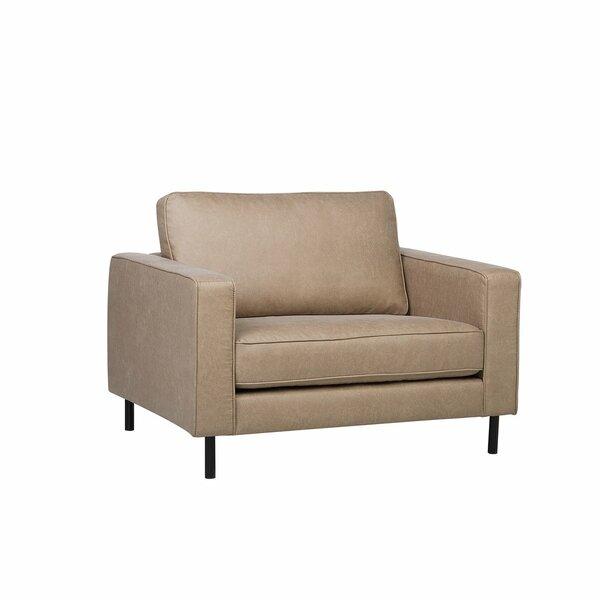 Brimfield Faux Leather Armchair by Orren Ellis