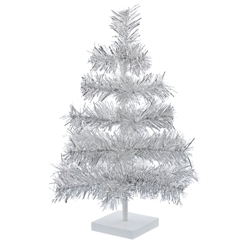 The Holiday Aisle Silver Artificial Christmas Tree | Wayfair