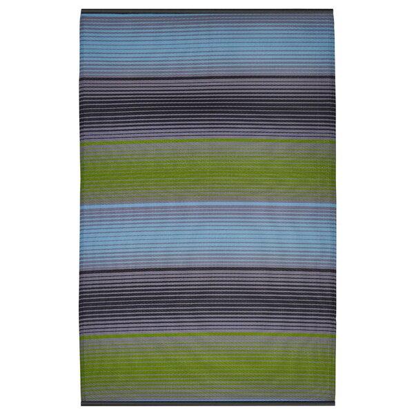 Reva Hand Woven Green/Blue/Black Indoor/Outdoor Area Rug by Zipcode Design