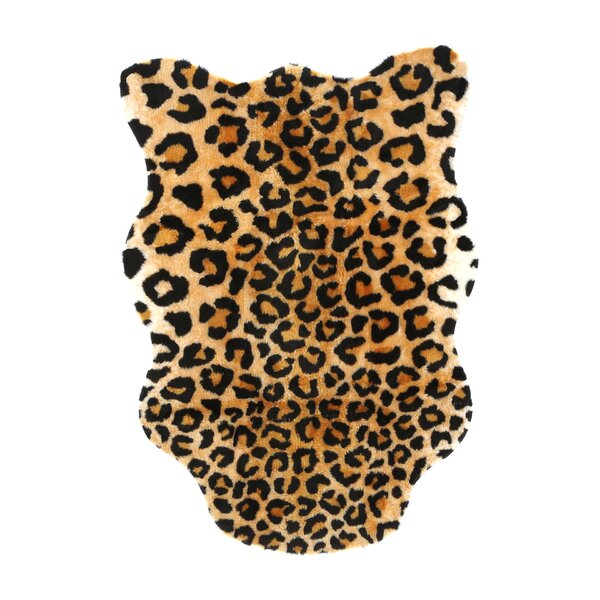 Animal Black/Brown Leopard Area Rug by Walk On Me