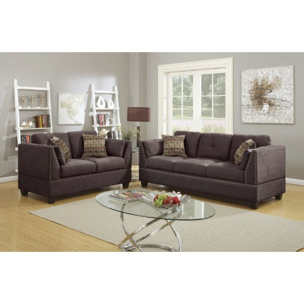 #1 Donovan 2 Piece Living Room Set By Alcott Hill 2019 Sale
