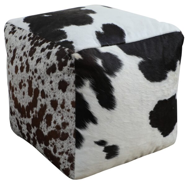 Tempo Leather Pouf By Gracie Oaks