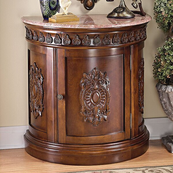 Grand Medallion Crescent Accent Cabinet by Design Toscano