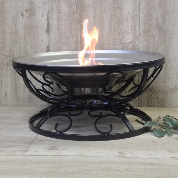 Fall Swirl Stainless Steel Wood Burning Fire Pit by Pomegranate Solutions, LLC