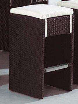 Derick 30 Aluminum Frame Patio Bar Stool with Cushion (Set of 2) by Mercury Row
