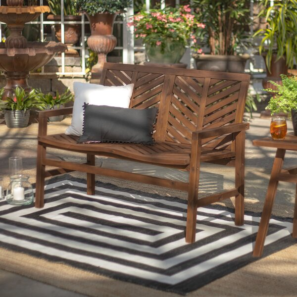 Skoog Chevron Wooden Garden Bench by Breakwater Bay