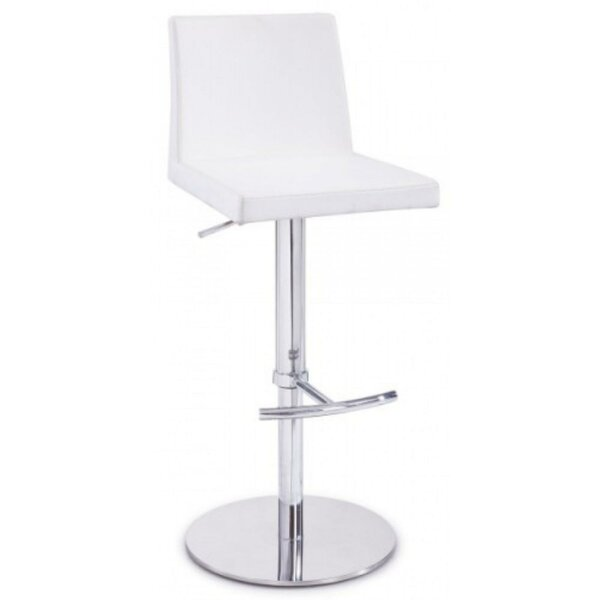 Daviston Leatherette Upholstered Adjustable Height Bar Stool by Orren Ellis