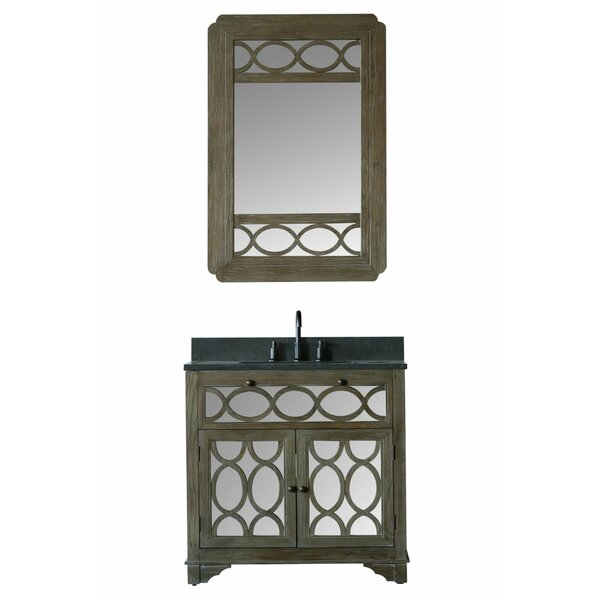 Clarkston 36 Single Bathroom Vanity Set with Mirror by Bungalow Rose