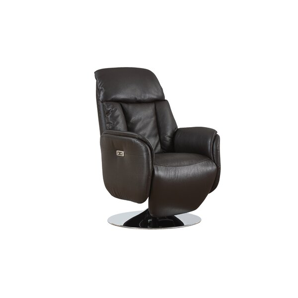 Tyshawn Leather Power Recliner by Orren Ellis