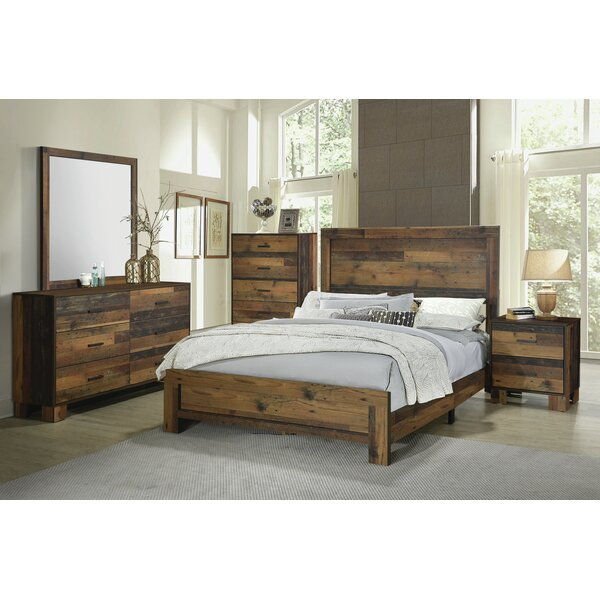 Keeso Eastern King Bed Rustic Pine by Foundry Select