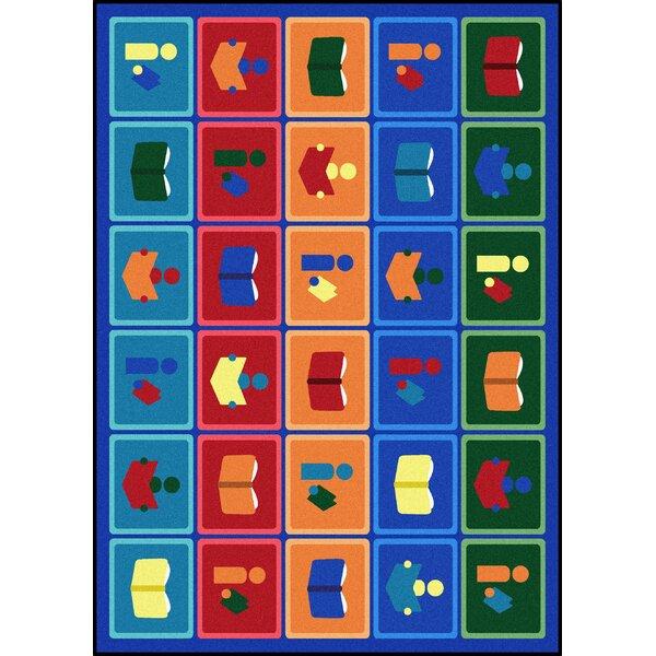 Kid Essentials Library Blocks Tufted Blue/Brown Rug