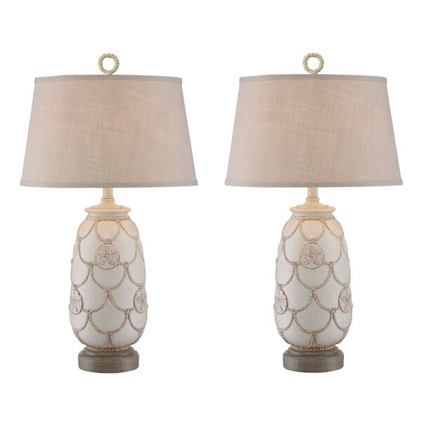Virgil Sand Dollar 31 Table Lamp (Set of 2) by Highland Dunes