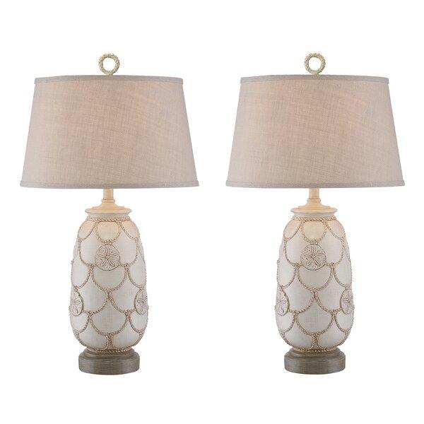 Virgil Sand Dollar 31 Table Lamp (Set of 2) by Highland Dunes