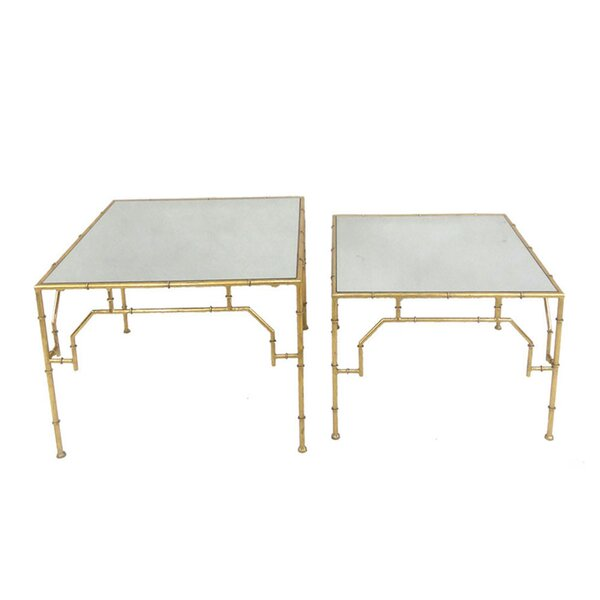 Home & Garden Penryn Square 2 Piece Nesting Tables