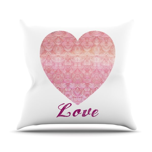Love Outdoor Throw Pillow by East Urban Home