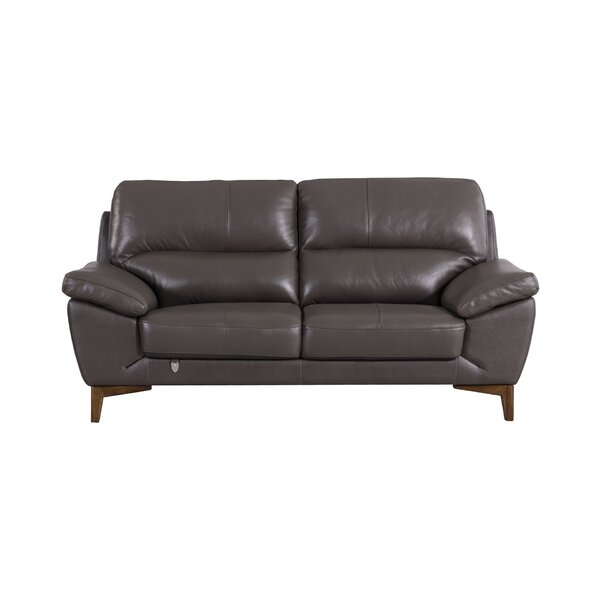Stengel Leather Loveseat By Brayden Studio
